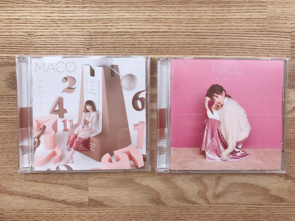 MACO 3rd album 『メトロノーム』 が本日リリースになりました💕💕 左) 通常盤 右) …