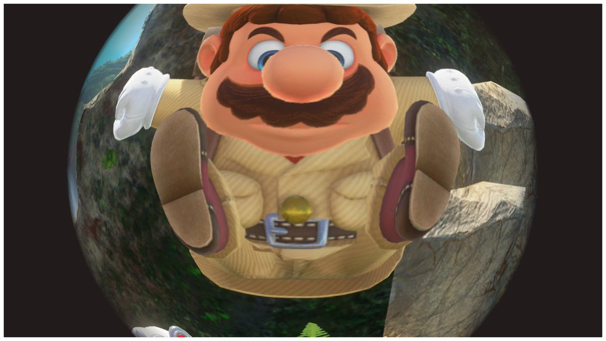 Mario's had one too many adventures. Now he struggles to move his limbs. #SuperMarioOdyssey #NintendoSwitch https://t.co/ZMH8bqm1XC