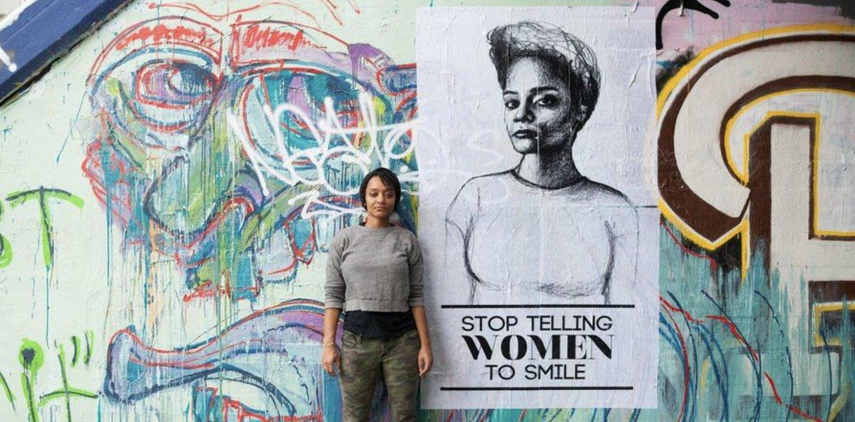 Tatyana Fazlalizadeh dénonce le harcèlement de rue grâce au street art #SortirAvecAnne ➡️ https://t.co/qdIETrlHTT