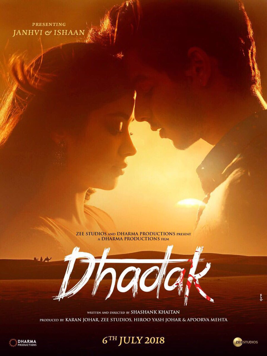 DHADAK - Releasing across Sweden on July 20, 2018 at SF Bio Cinemas