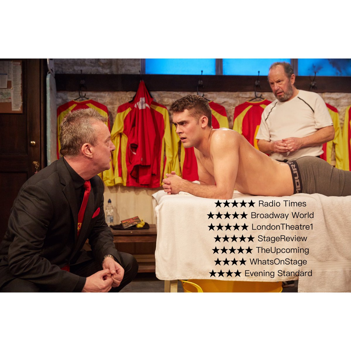 #Reviewers and #audiences are loving this production of #TheRedLion...&quot;Fantastic show. Do not miss. Best show I&#39;ve seen in ages&quot; @LiveTheatre @TrafStudios #lovetheatreday<br>http://pic.twitter.com/MfmDwksLZX &ndash; à Trafalgar Studios