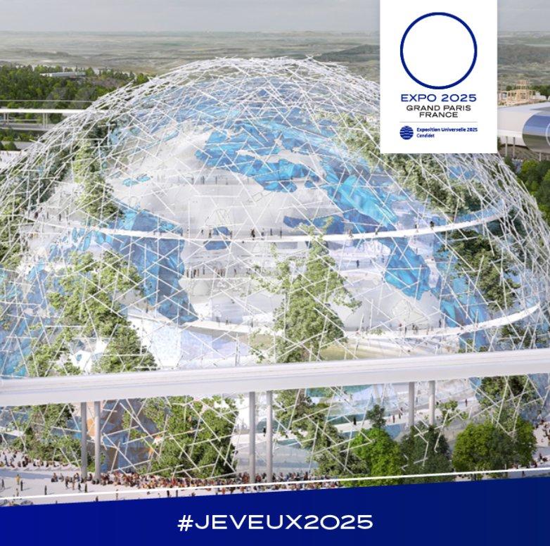 """<a href=""""https://twitter.com/hashtag/FranceInfo?src=hash"""" target=""""_blank"""">#FranceInfo</a> L'Exposition Universelle c'est l'occasion de laisser un héritage pour les générations futures et c'est ce que nous voulons avec le globe que nous envisageons de construire <a href=""""https://twitter.com/comParisSaclay"""" target=""""_blank"""">@comParisSaclay</a> <a href=""""https://twitter.com/hashtag/JeVeux2025?src=hash"""" target=""""_blank"""">#JeVeux2025</a> https://t.co/oDpnrxqpUS"""