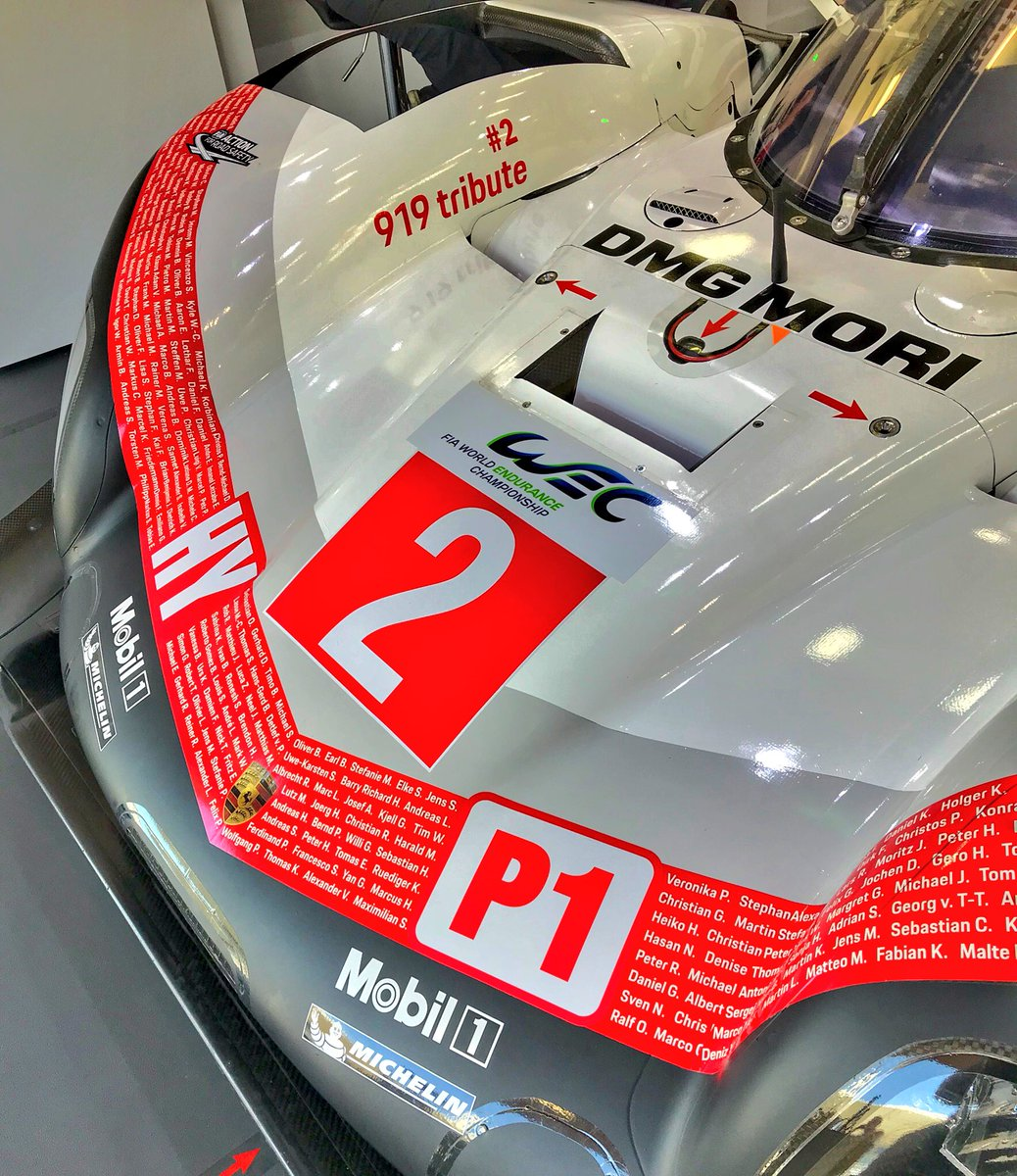 wec on twitter porsche team s name game tribute to. Black Bedroom Furniture Sets. Home Design Ideas