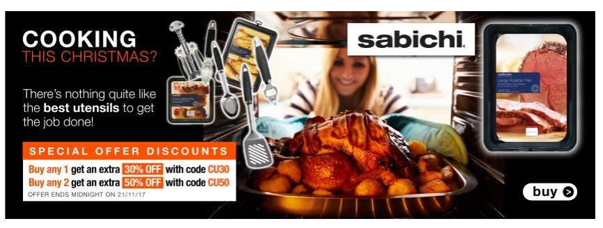 Save Min of 30% on Cooking accessories this Christmas  http:// ow.ly/fwF930gzJA3  &nbsp;   #RT #Follow #Win Save Share #MultiBuy any 2 Massive 50% off both <br>http://pic.twitter.com/cU5mrgS8ae