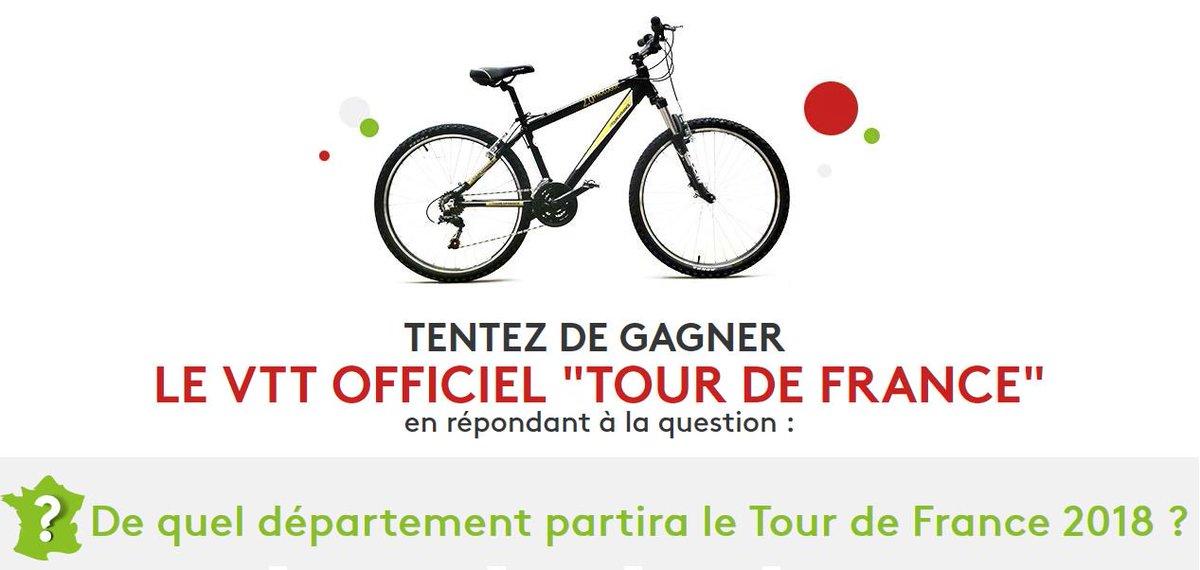 #Concours:  tentes de gagner un VTT officiel « Tour  de France » !!!       #Jeux #RT + follow @gainspourtous   http:// gainspourtous.com/tentez-de-gagn er-le-vtt-officiel-tour-de-france/  … pic.twitter.com/tJHAVw8KQQ