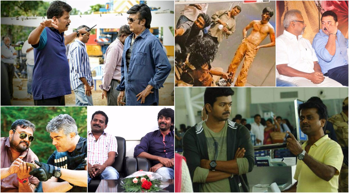 #Rajinikanth has returned to #Shankar for 2.0. #Vijay has returned to #ARMurugadoss for his next and #Ajith could well join with #Siva again. Looks like Tamil cinema is in a decade of recurrent collaborations. We take a look at few of them  http://www. cinemaexpress.com/stories/trends /2017/nov/14/partners-in-time-3087.html &nbsp; … <br>http://pic.twitter.com/Kta96faUis