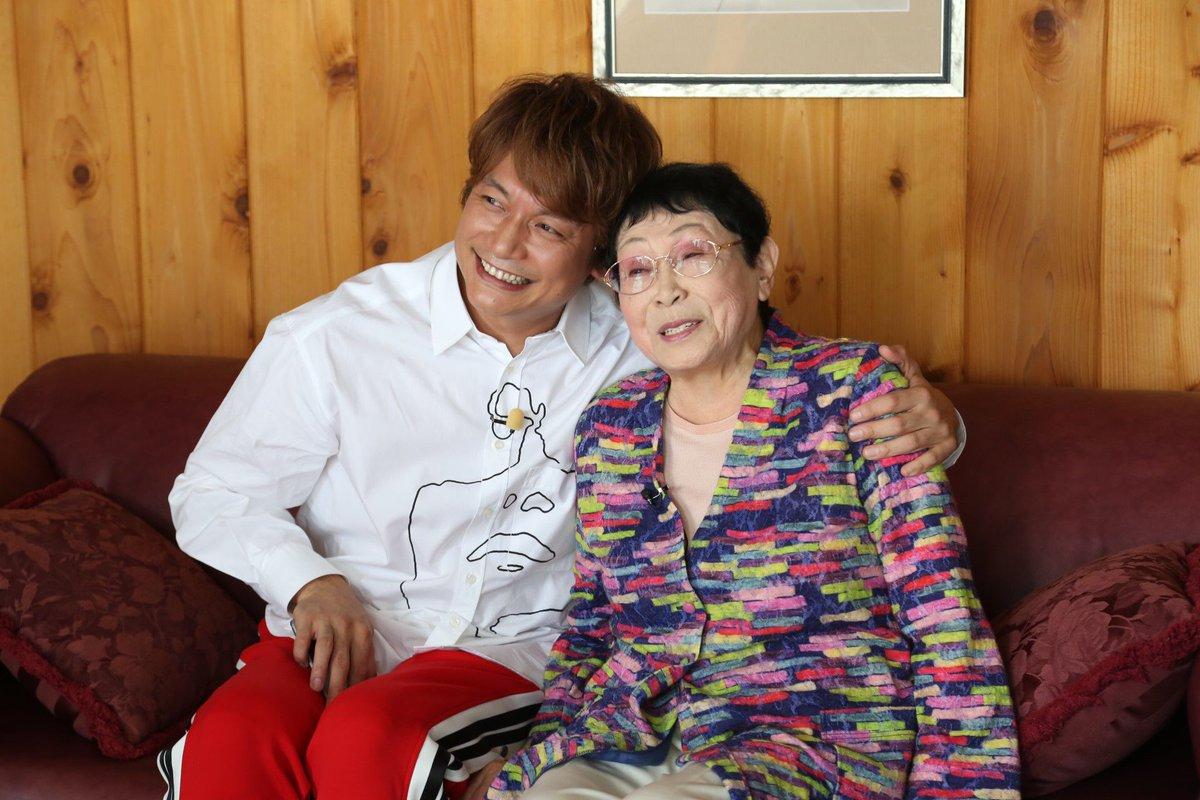 1時間後の、今夜7時から「おじゃMAP!!」放送です!!  92歳で現役脚本家!! 橋田壽賀子先生の…