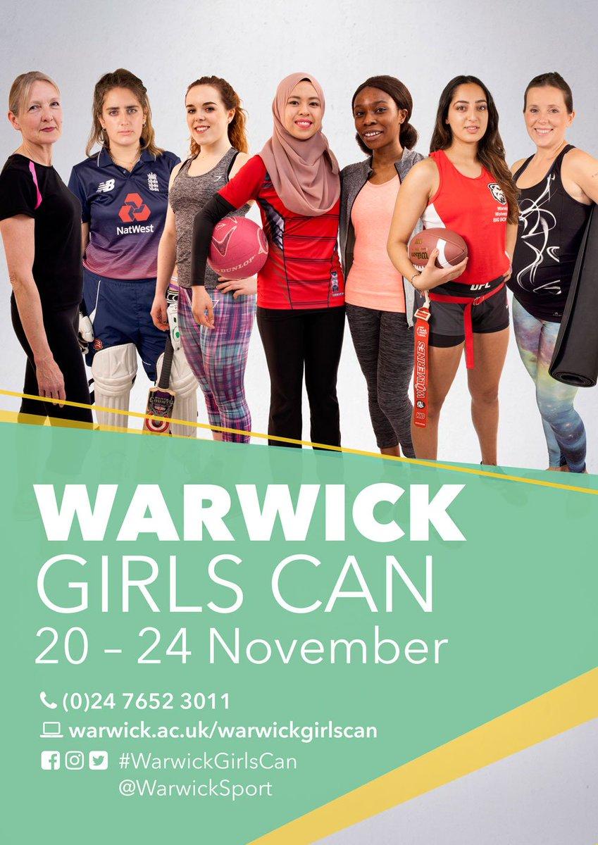 Warwick Girls Can poster via Warwick Sport Twitter page