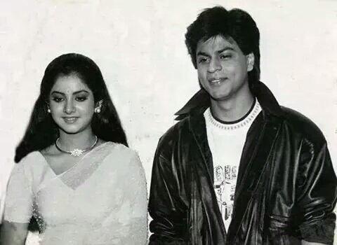 The Beautiful #DivyaBharti And The King @iamsrk #SRK #ShahrukhKhan @pramodsrkian  #throwback90s #90s #memories #RIP #BollywoodFlashback<br>http://pic.twitter.com/MaMV9aux39