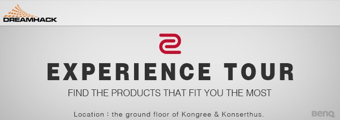 Our development team will meet you in the ZOWIE Experience Tour with a full setup at DreamHack Winter, like DyAc 240hz Monitor, EC-B, VITAL. • Fill out an application: https://t.co/EGGbovc4M1 You will receive the confirmation later.  • Location: Room K14 (Kongress & Konserthus) https://t.co/KSYdEEjvfP