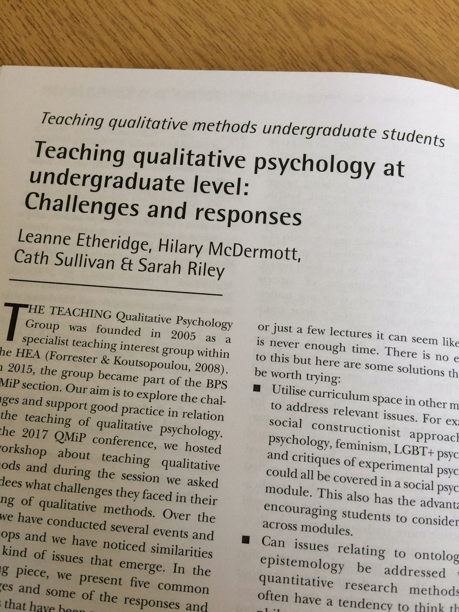 Very happy to have received my copy of the @QMiP bulletin with our article in! Love working with my TQP colleagues! @drcathsullivan @Hilary_McD @sarahrileybrown #LoveHE #teaching<br>http://pic.twitter.com/Dh4HDfdBZT
