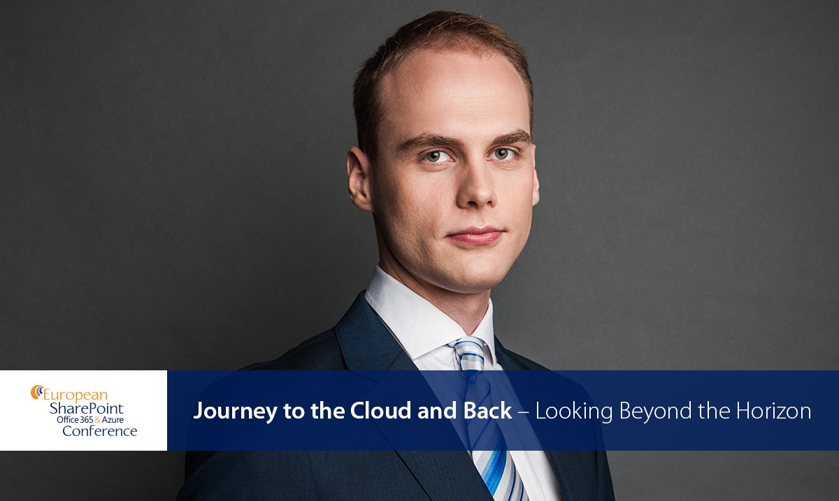 Join @MRykiert for his session on #workflow and business #applications &quot;Journey to the Cloud and Back – Looking Beyond the Horizon&quot;,     Liffey Hall 1 at 10:20 #ESPC17 #ESPC2017<br>http://pic.twitter.com/3GYleWTGsk