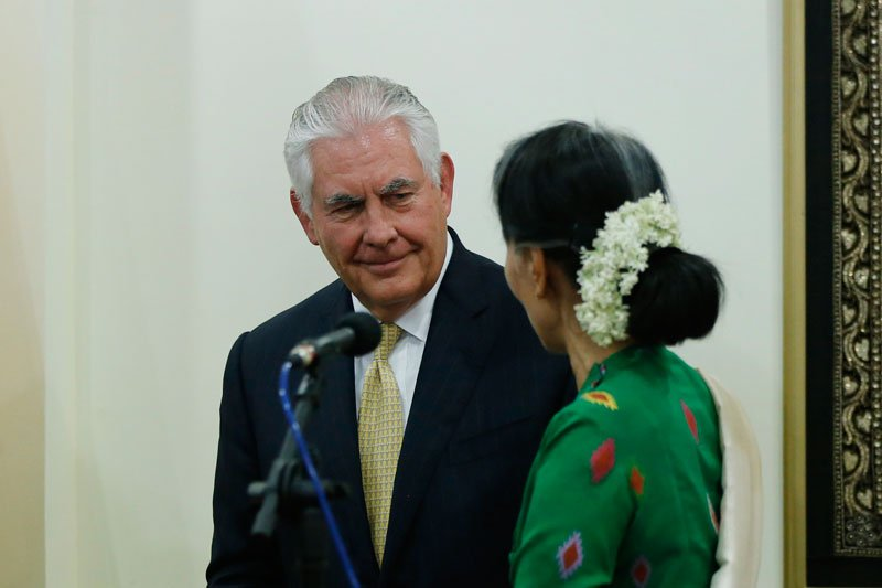 'The #US not to press for #sanctions now.' #Tillerson    http:// bit.ly/2zErHZ7  &nbsp;  <br>http://pic.twitter.com/94OTfkMqJ2
