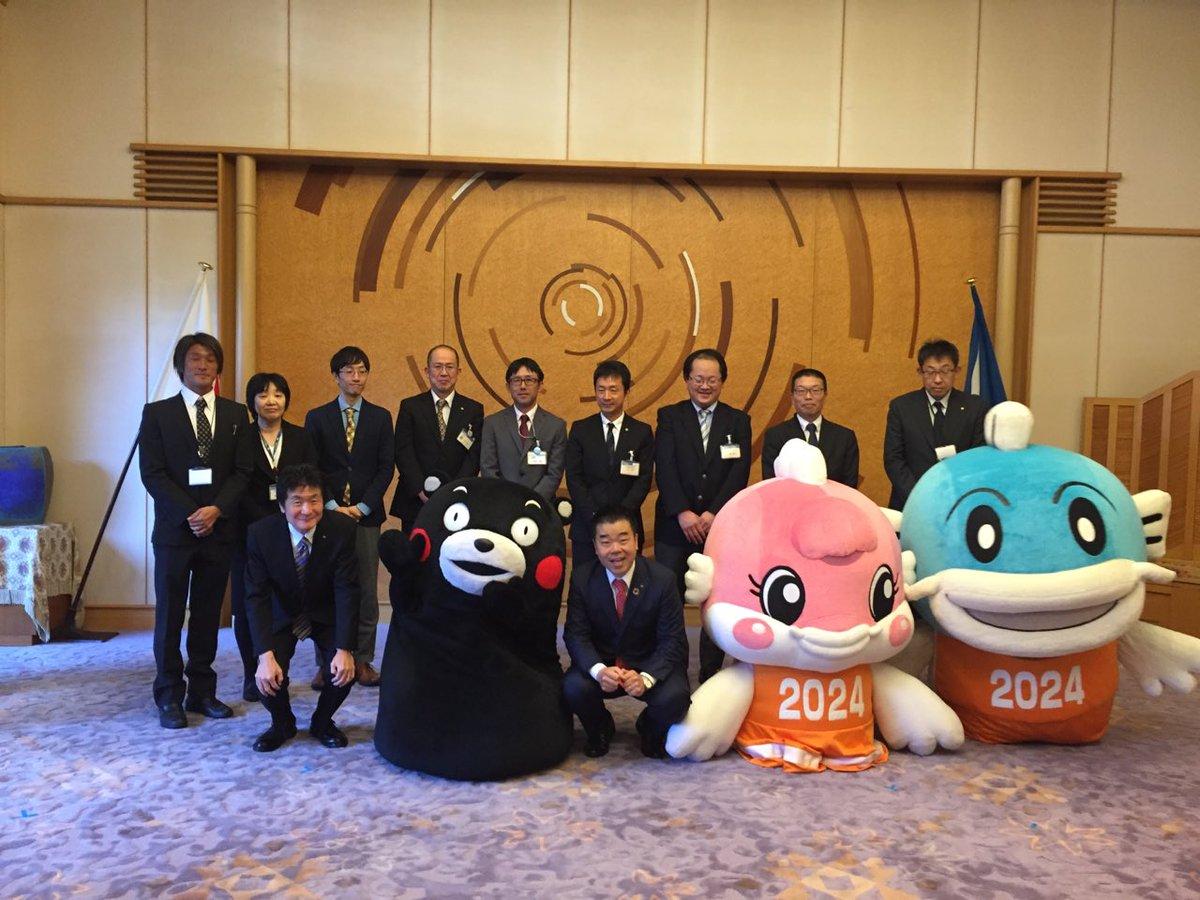 「くまもとから感謝をプロジェクト!」で滋賀県庁におじゃまさせていただいたモン☆ 三日月滋賀県知事、熊…