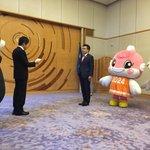 「くまもとから感謝をプロジェクト!」で滋賀県庁におじゃまさせていただいたモン☆三日月滋賀県知事、熊本…