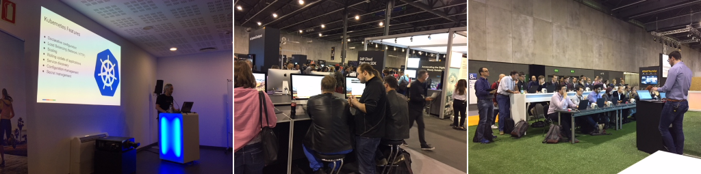 At #SAPTechEd Barcelona? Stop by the Developers Garage to meet the experts &amp; for hands-on learning on #SAPHANA, #ML, #UI, #iOS at the App Space. Take 20 min to attend an Innovation Talk for insights directly from industry experts. Join us for SAP CodeJam.  http:// spr.ly/6017DBSIx  &nbsp;  <br>http://pic.twitter.com/aOdHtGQVTF