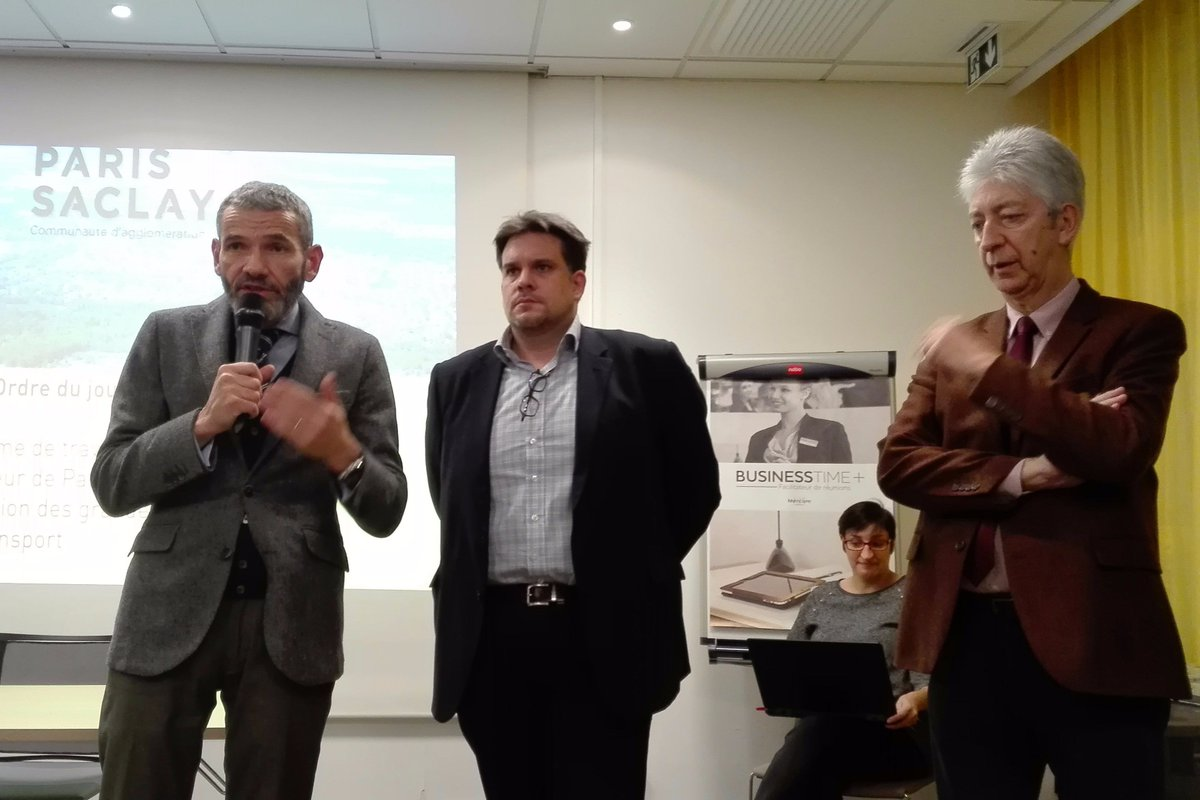 """Les chefs d'entreprise sont venus nombreux au rendez-vous de la Communauté d'agglomération <a href=""""https://twitter.com/hashtag/ParisSaclay?src=hash"""" target=""""_blank"""">#ParisSaclay</a> pour s'informer sur les travaux d'aménagement de la Zone de <a href=""""https://twitter.com/hashtag/Courtaboeuf?src=hash"""" target=""""_blank"""">#Courtaboeuf</a> et contribuer à son avenir ! 🚧 https://t.co/BGuLItqpBw"""