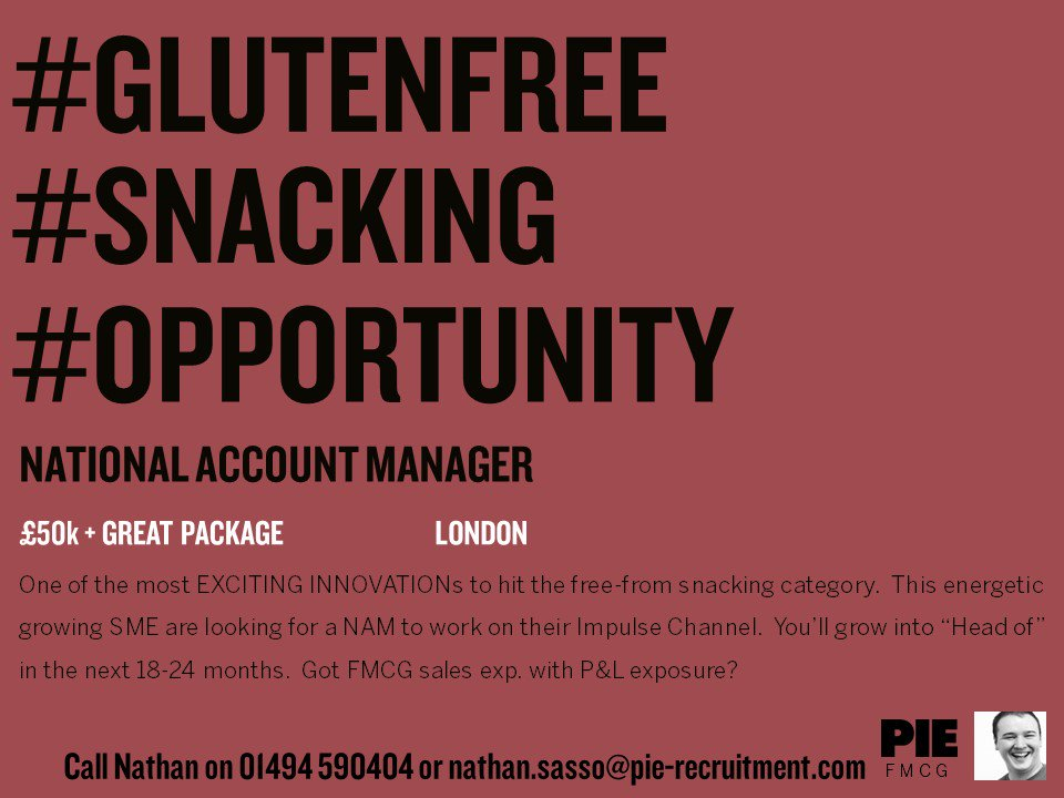 Passionate about #GlutenFree products? Looking for a new #Sales role in #FMCG? Check out this opportunity with a #snacking brand &gt;&gt;  http:// bit.ly/2hb5pnq  &nbsp;   #Food<br>http://pic.twitter.com/SqQvAARLZp