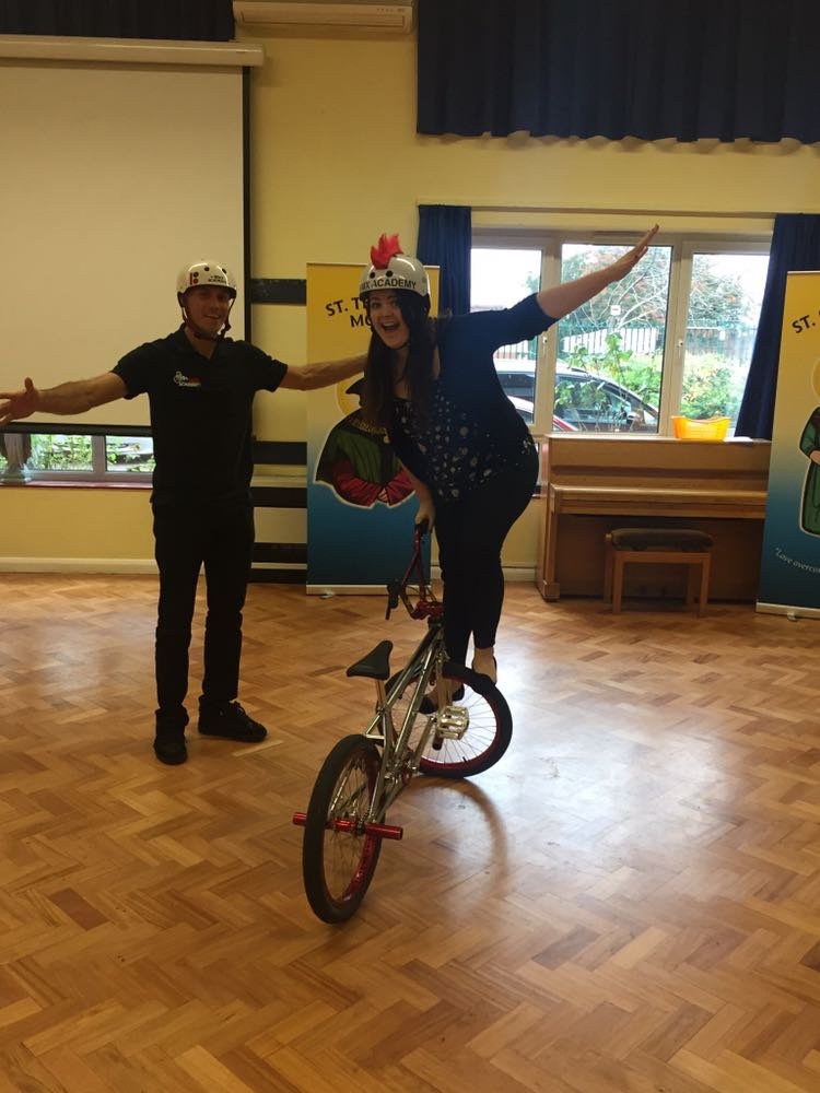 Miss Stevens showing off her newly learnt skills courtesy of @MikeBMXAcademy #growthmindset
