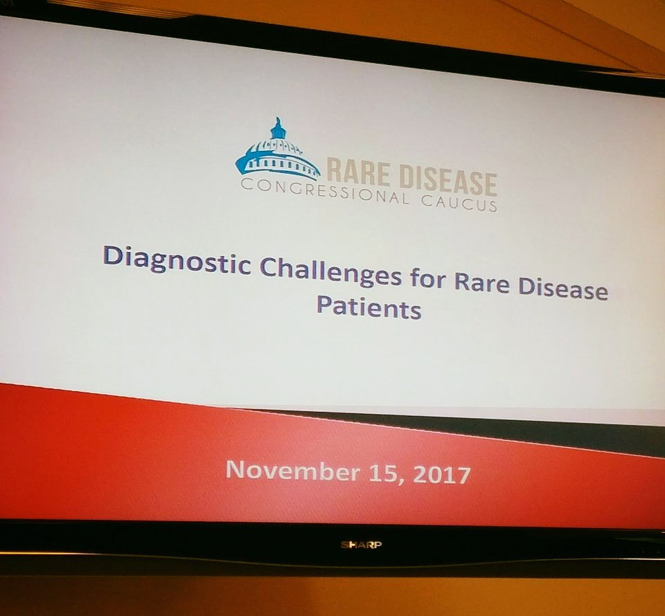 Looking forward to today&#39;s #RareDisease  Congressional Caucus to discuss genetic testing and sequencing with @ngly1org . @EveryLifeOrg<br>http://pic.twitter.com/kGqgnO4BGZ &ndash; à Rayburn House Office Building