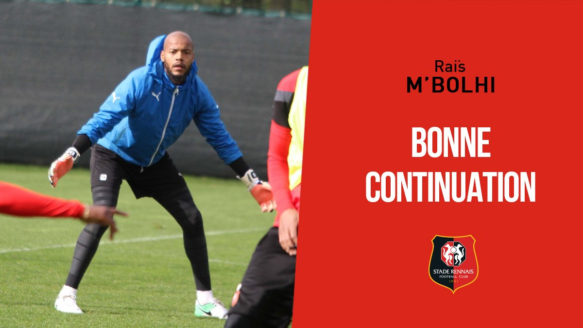 M'Bolhi quitte le Stade Rennais à l'amiable — Officiel