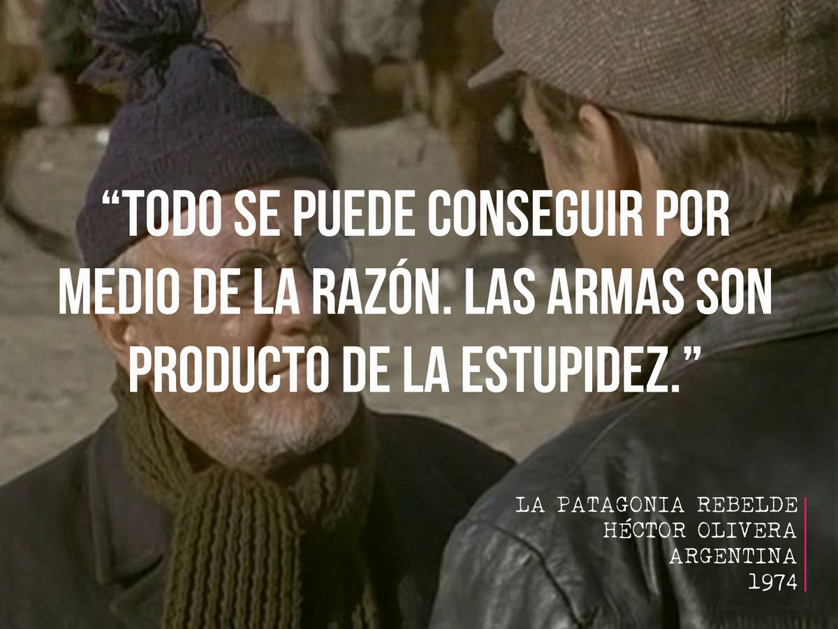 &quot;Everything can be achieved through reason. Weapons are the product of stupidity.&quot; #FelizMiercoles #AsíSoyYQué @CINEAR_ @INCAA_Argentina #Paz #Peace #War #weapons #Reason #Argentina<br>http://pic.twitter.com/1G7WNR6haI