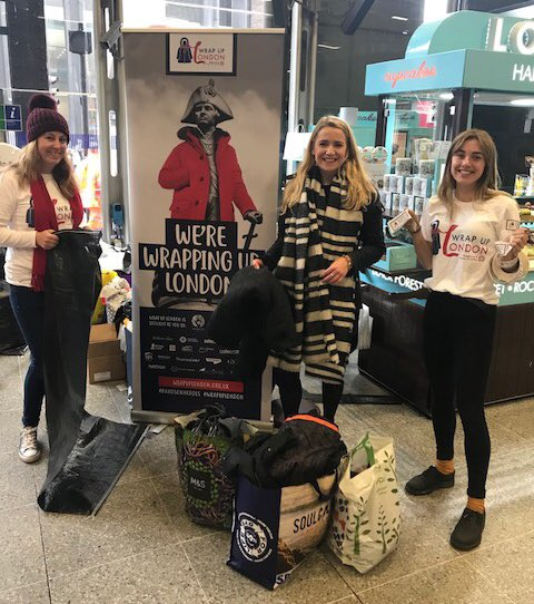 Down at @wrapuplondon earlier today. Thanks to everyone who donated their old coats! 🤗 https://t.co/YGFec0STGO