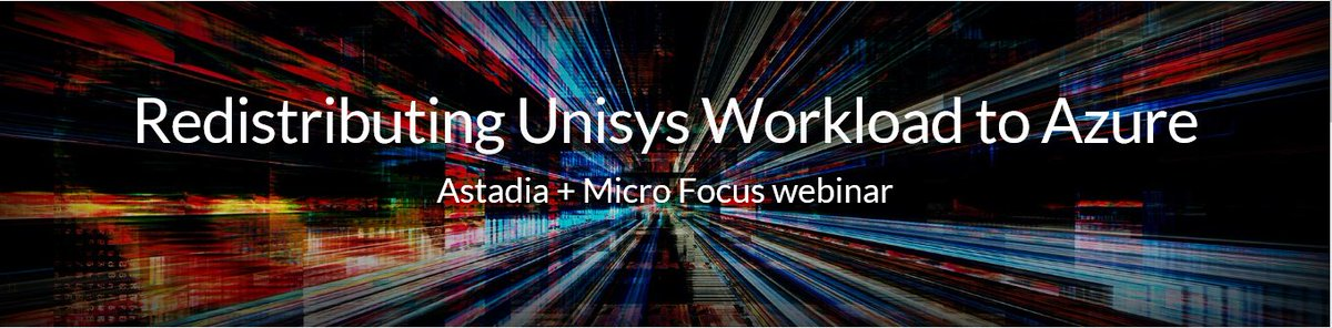 See #UnisysMainframe to #Azure deployment in action in tomorrow&#39;s #livewebinar with @MicroFocus! Seats are filling fast, register now:  http:// ow.ly/rl5030gB8GT  &nbsp;  <br>http://pic.twitter.com/hNxExRKYX5