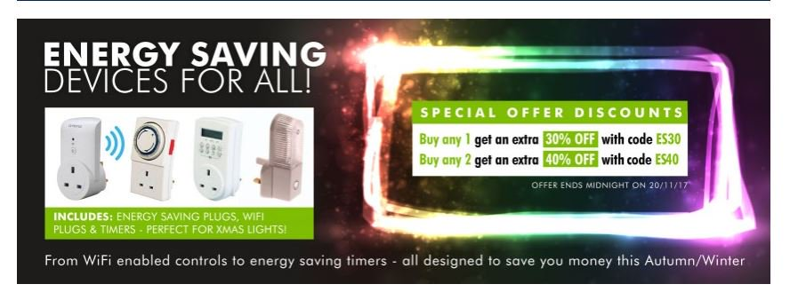 Winter is here and time to save energy and money with our nightlights &amp; timers. 30% off with Code  http:// ow.ly/1tZG30gzJiS  &nbsp;   #RT #Follow #Win Save Share #MultiBuy any 2 40% off <br>http://pic.twitter.com/vS66EeSgcY
