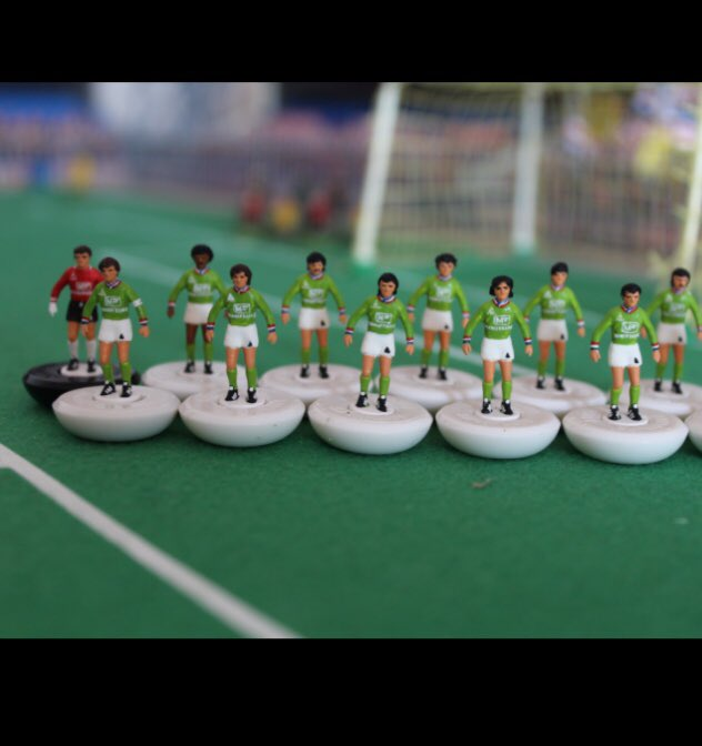 If you are nostalgic of the football from the 70's , We have a great team for you ! Revive the epic adventure of 'Les Verts' in the European cup 1976 on  http:// legendsoffootballminiaturea.com  &nbsp;   #saintetienne #lesverts #europeancup #handpainted #subbuteo  @sofootcom @RMCsport @LeVestiaireFoot<br>http://pic.twitter.com/yDhrBi7XOh