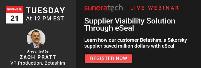 Join us for a Live Webinar, 11/21: How supplier visibility solution can help save BIG for both manufacturers and suppliers.  #LiveWebinar #SupplyChain #DSN #SupplierVisibility #SuneraDSN Register today -  https://www. suneratech.com/is-lack-of-sup plier-visibility-costing-you-too-much/ &nbsp; …  … <br>http://pic.twitter.com/YkMEQNw6lc  https:// twitter.com/sunera_tech/st atus/930773897640677376 &nbsp; …