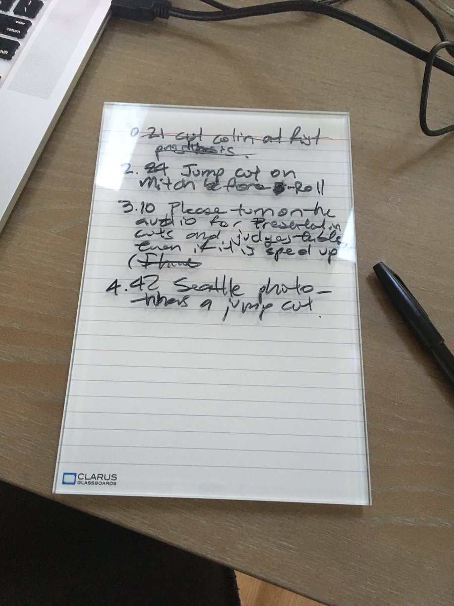 Loving this paper-like @ClarusBoards #glassboard my wife got me from a conference! #paperless<br>http://pic.twitter.com/SqaHbotiMn