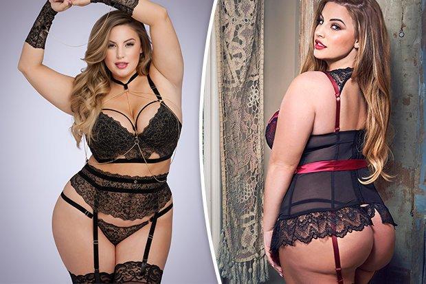 Hot plus size lingerie models