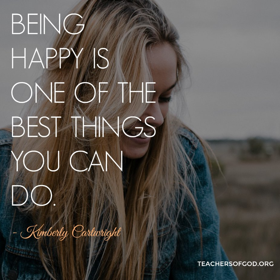 Being happy is one of the best things you can do.  http:// bit.ly/2zF5B8p  &nbsp;   #TOG #happy #acim <br>http://pic.twitter.com/emXtxazybX