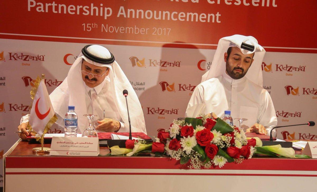 Kidzania Doha On Twitter Kidzania Doha And Qatar Red Crescent Sign