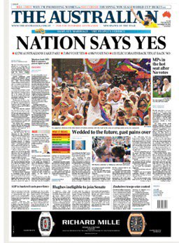 NATION SAYS YES  #marriageequality @aust...