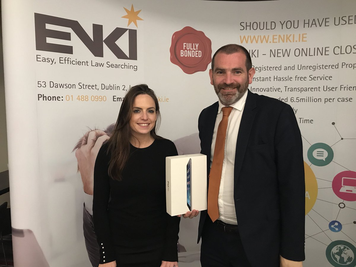 Barry Darmody from @enkisearch will be talking about 'online law searching' tomorrow on the 16th Nov during the #Residential #Property conference. You can talk to Barry &amp; Cliona at their stand to find out more and also enter their iPad prize #TSGLAW #Dublin<br>http://pic.twitter.com/b1gHSW3IoH