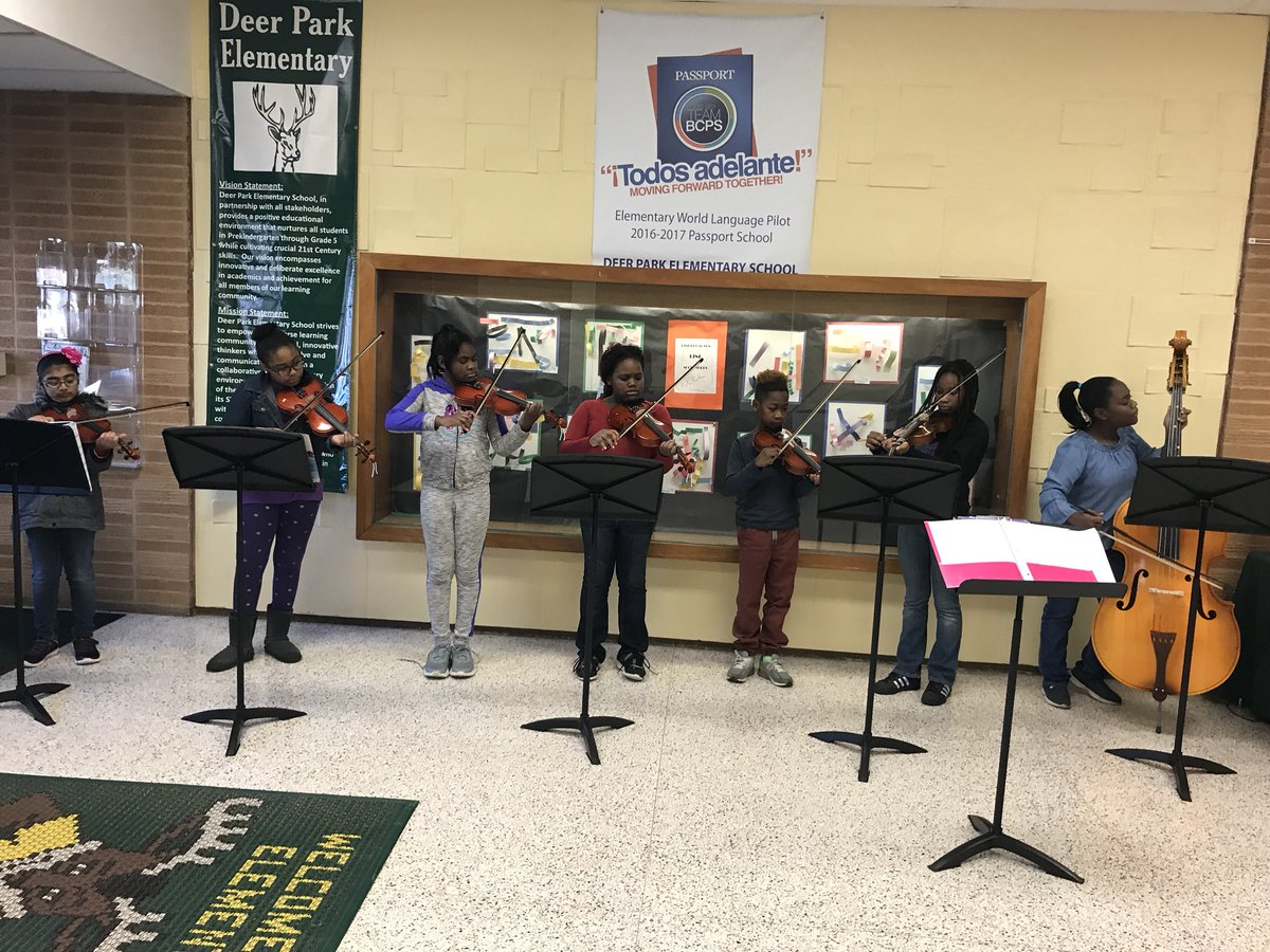 Congrats to my super awesome @DeerParkES Strings for an amazing welcome performance for our AEW guests! @MusicBCPS @MdPublicSchools #PublicSchoolsForAll #musiced <br>http://pic.twitter.com/EyJ2xwpyVp