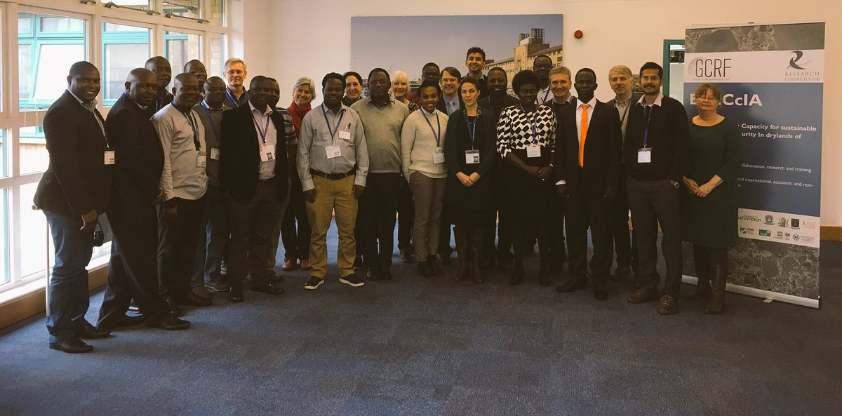 The BRECcIA team photo with participants from Niger, Kenya, Malawi, and Ghana. Research on water and food security. #rcuk #gcrf @unisouthampton<br>http://pic.twitter.com/l7ayWhJtfC