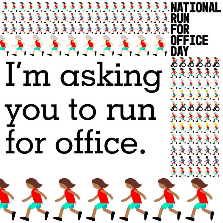 Yesterday was National Run for Office Day! It is up to us to encourage the younger generation to #runforsomething and effect meaningful, progressive change. <br>http://pic.twitter.com/BAZn77MsnI