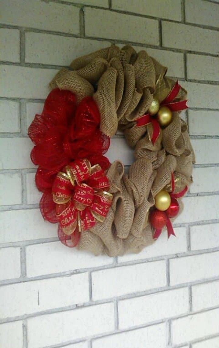 Burlap Christmas Wreath  http:// etsy.me/2msMFVw  &nbsp;   via @Etsy 20% off! @on_etsy @etsyonsale @i_SmallBusiness @Craft_Promoter @WeLoveHolidays @HomeDecorNews #burlapwreath #EtsySeller #decomeshwreaths #ChristmasDecorations #RETWEEET #wickedwreathshop #sale #giftideas #homedecor<br>http://pic.twitter.com/oo06FpinJg