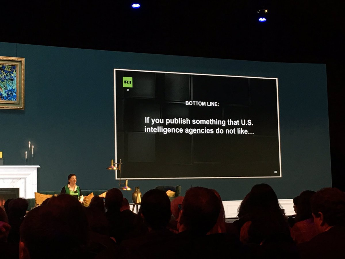 #RussiaToday&#39;s @M_Simonyan says &quot;If you publish something that the U.S intelligence agencies do not like, you could be next.&quot; #NX17<br>http://pic.twitter.com/cT7JgeA56E