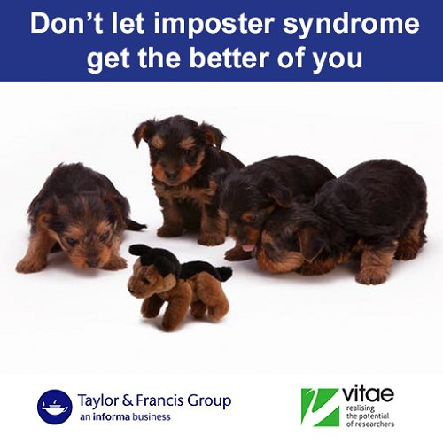 Researchers have a professional identity too and are not &#39;just students&#39;. Listen to @tandfauthorserv and #vitae17 podcast on overcoming imposter syndrome  http:// bit.ly/2fcffFb  &nbsp;  <br>http://pic.twitter.com/i8eLMe5XmH
