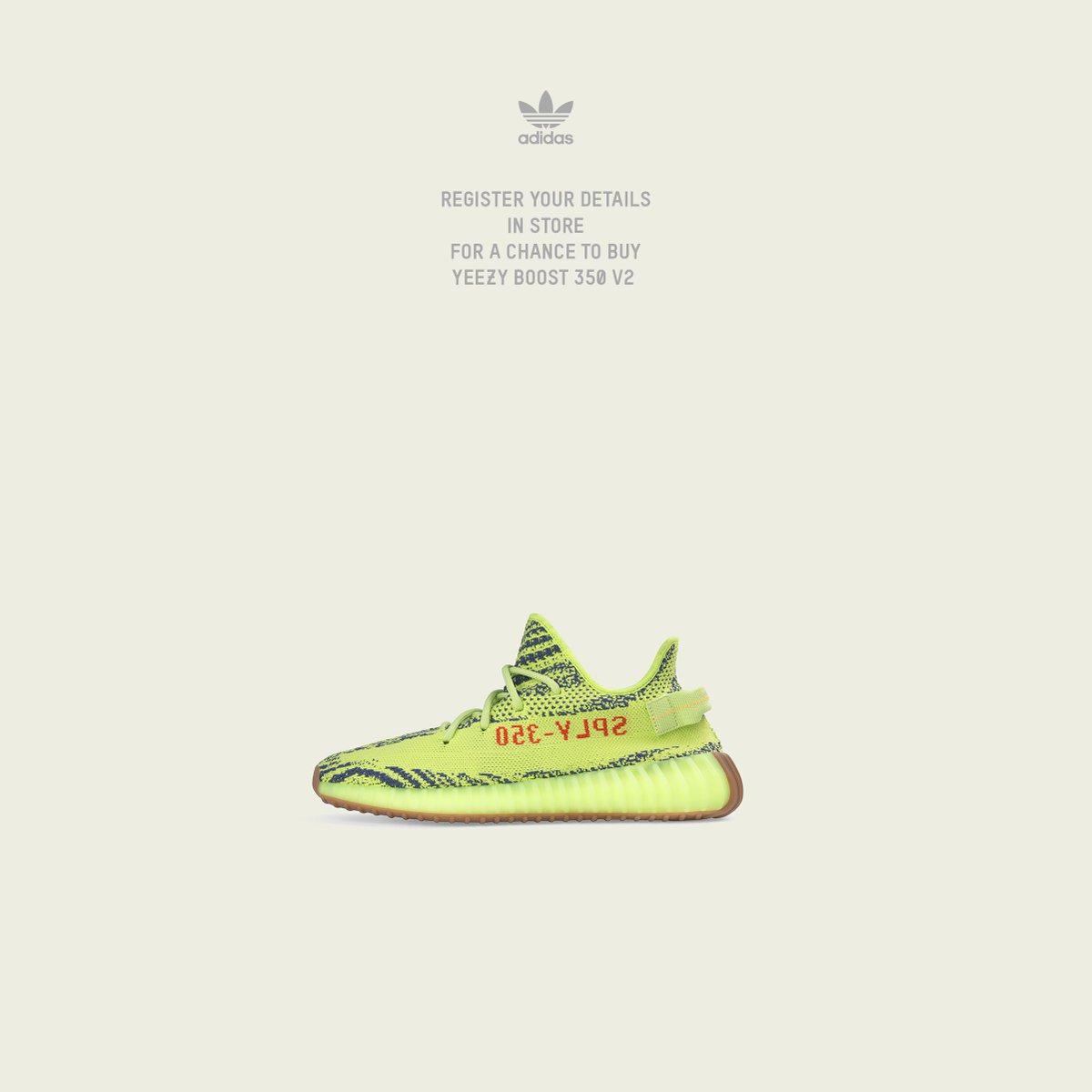 b2ac86b01 The raffle for the Adidas Yeezy Boost V2 350 - Semi Frozen Yellow is going  on IN STORE ONLY all day today   tomorrow at all BAIT locations.