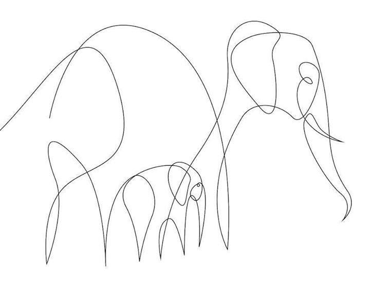 الرسم بخط واحد متصل، إحدى طرق الرسم المميزة. (صور)pic.twitter.com/uDlmZ4MOYH