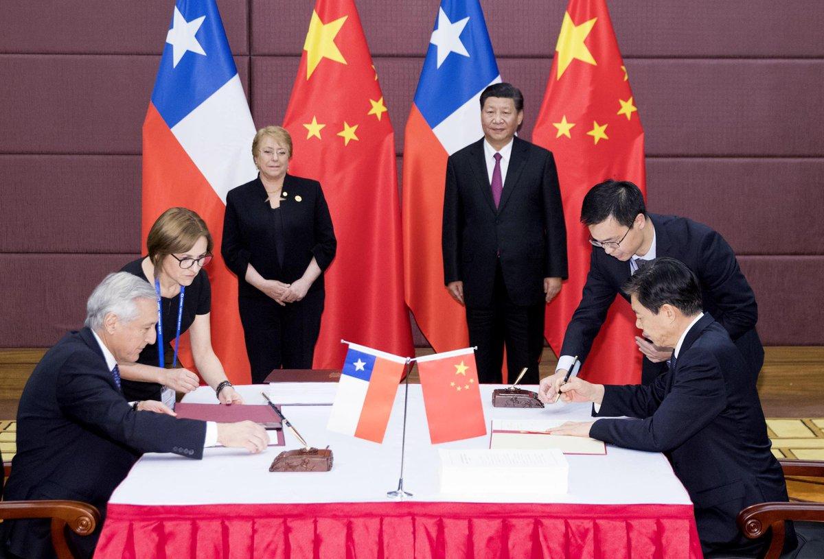 China Xinhua News On Twitter Upgrading China Chile Free Trade