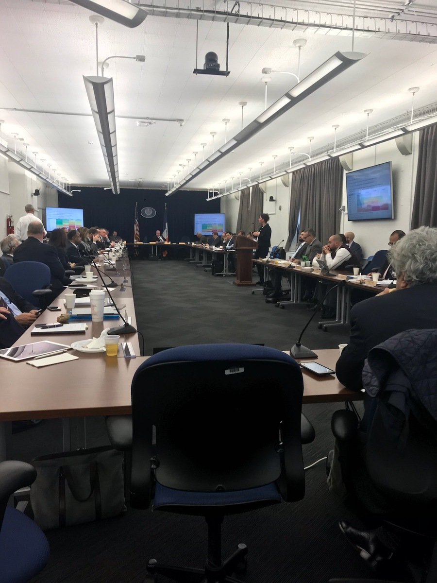 At the #NewYork pension board bearing witness to discussion of #climate reports while remaining invested in the likes of climate criminal @exxonmobil . It&#39;s past time to #DivestNY from fossil fuels @NYCComptroller @NYCMayor @NYCPA @DistCouncil37 #divest #COP23 #exxonknew <br>http://pic.twitter.com/De8jmpja0t