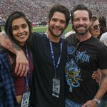 Tyler Posey hanging out at the LA Rams home game this past Sunday. #TylerPosey #LARams #NFL