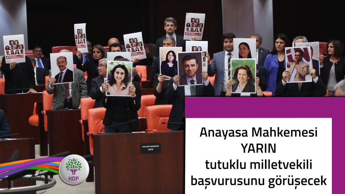 #AnayasaMahkemesineÇağrı: Milletvekilinin yeri cezaevi değil Meclis'tir. https://t.co/hUyIjqX1Sd