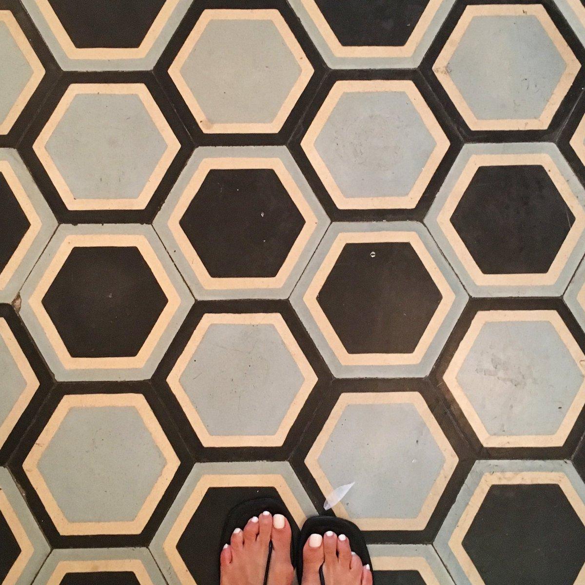 Caseyinteriordesign On Twitter Classic Hexagonal Floor Tile Found